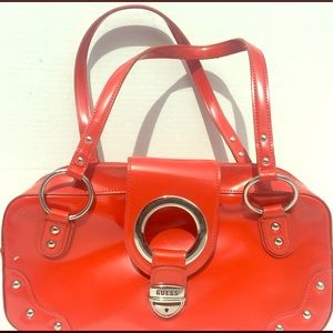 Red patent leather purse